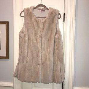 Calypso St. Barth faux fur vest